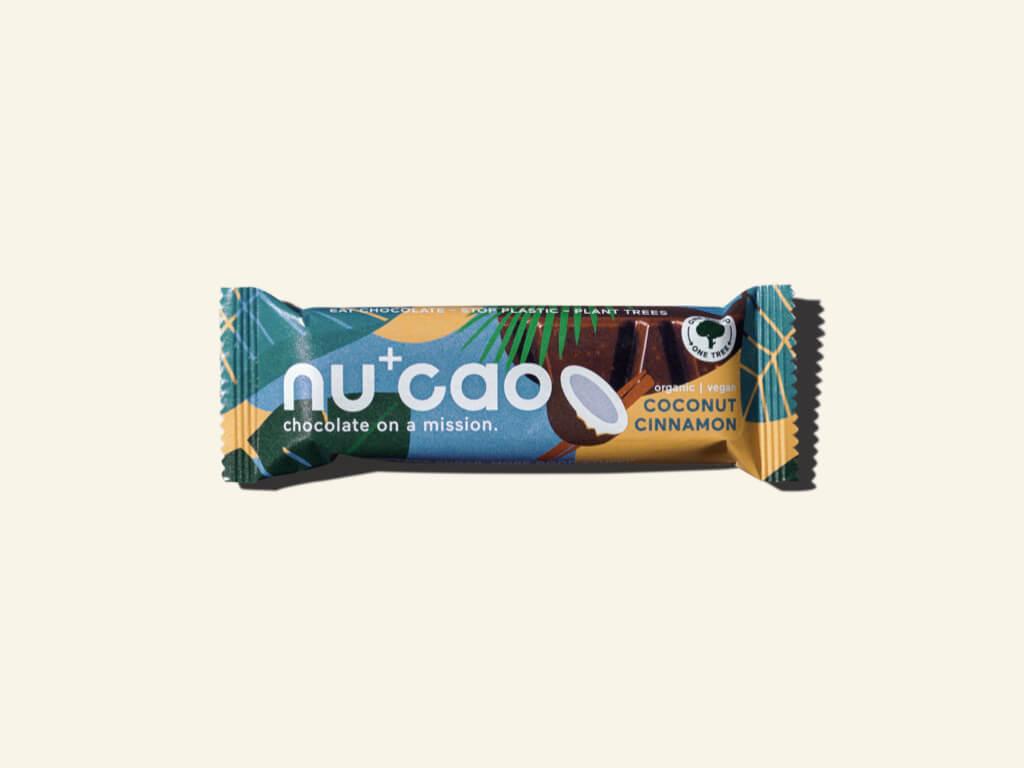 Nu+Cao - Barre Cacao Cru + Noix de Coco & Cannelle - Bio - 40g
