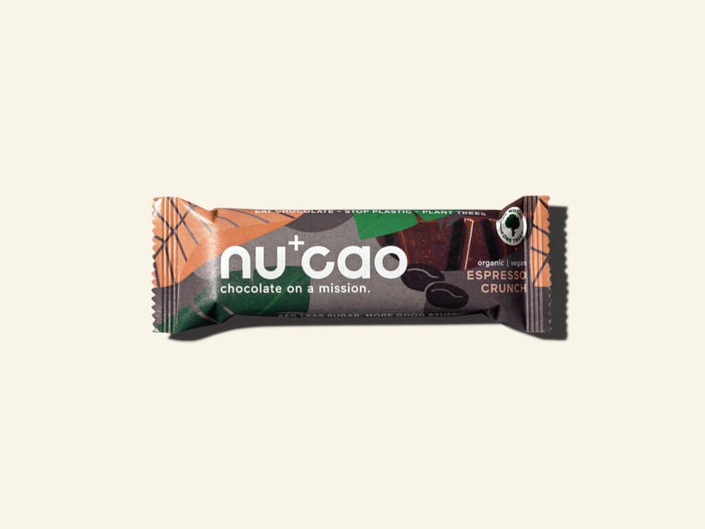 Nu+Cao - Barre Cacao Cru + Expresso Crunch - Bio - 40g
