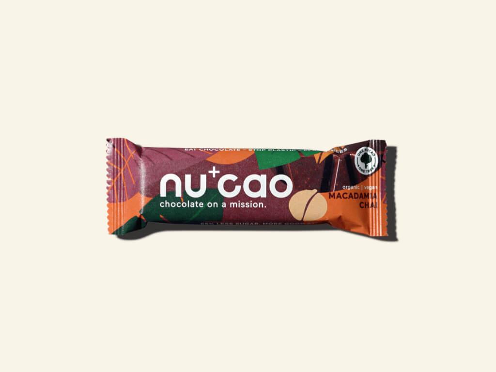 Nu+Cao - Barre Cacao Cru + Macadamia Chaï - Bio - 40g