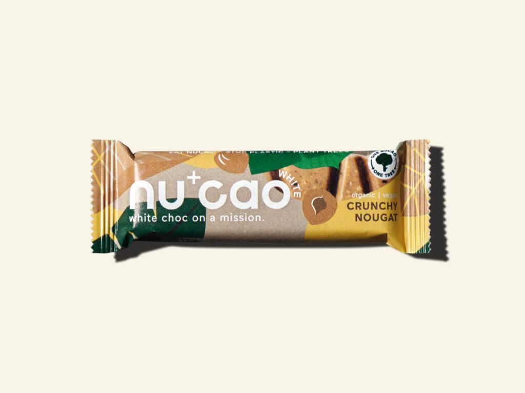 Nu+Cao - Barre White Cacao Cru + Crunchy Nougat - Bio- 40g -