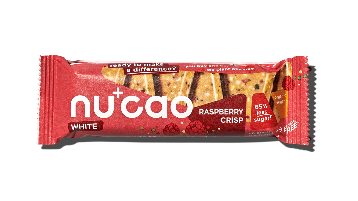 Nu+Cao - Barre White Cacao Cru + Framboise Crisp - Bio - 40g