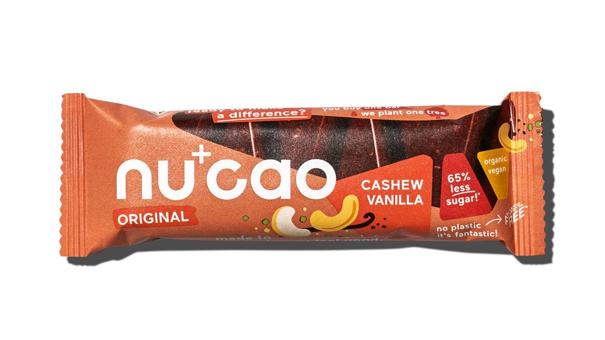 Nu+Cao - Barre Cacao Cru + Vanille & Noix de Cajou - Bio - 40g