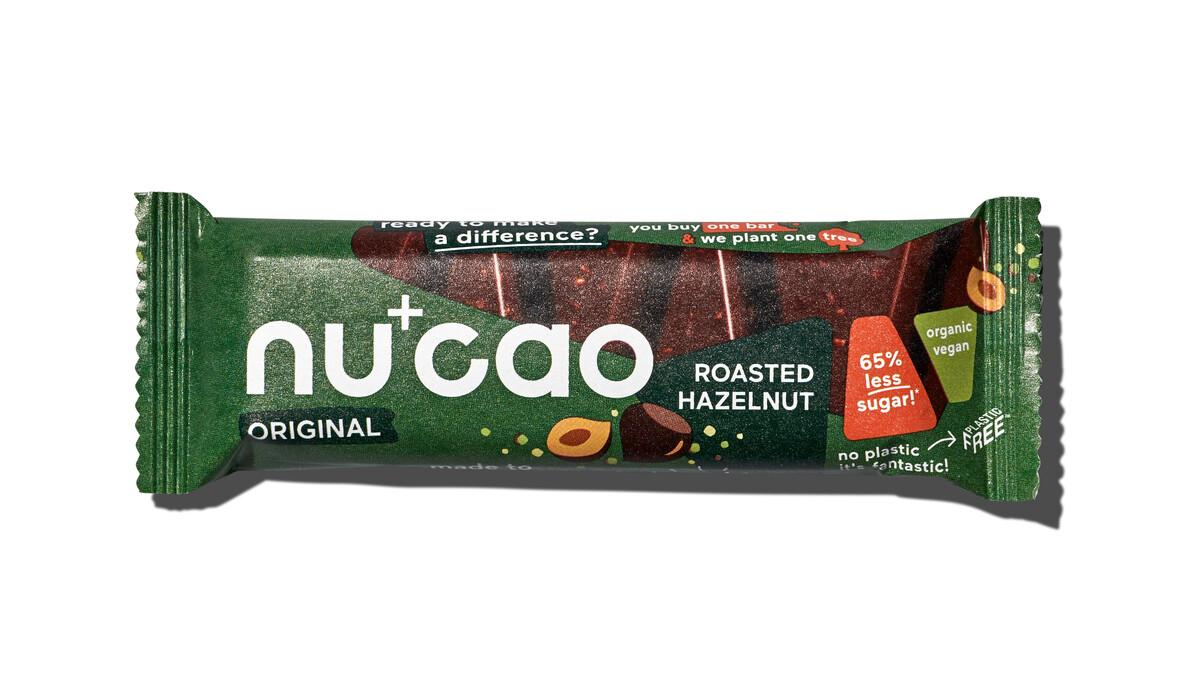 Nu+Cao - Barre Cacao Cru + Noisettes grillées - Bio - 40g