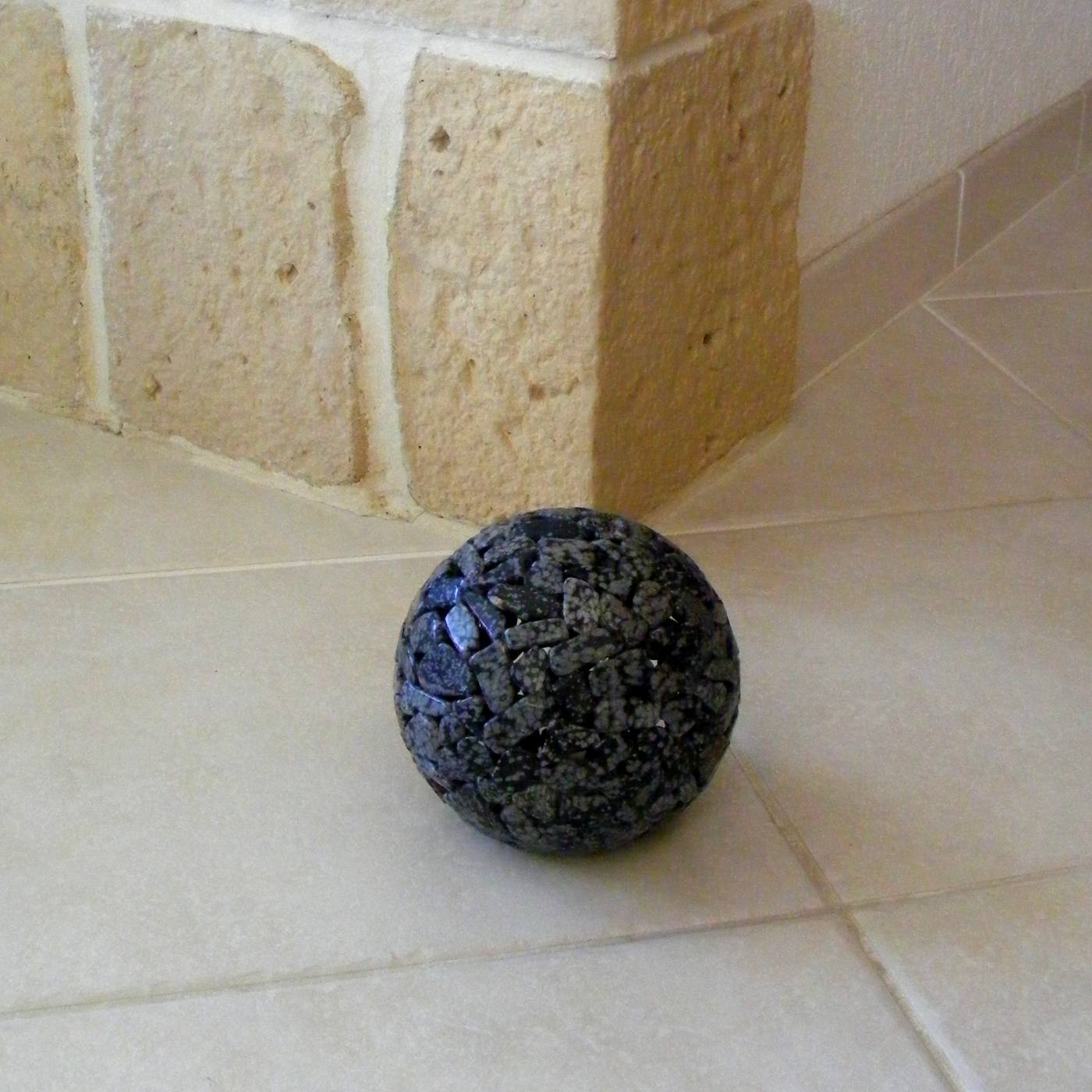 Globes obsidienne flocon de neige