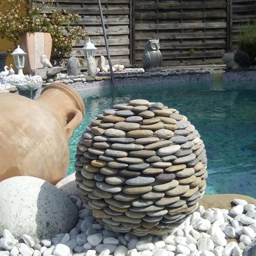 boule galets piscine