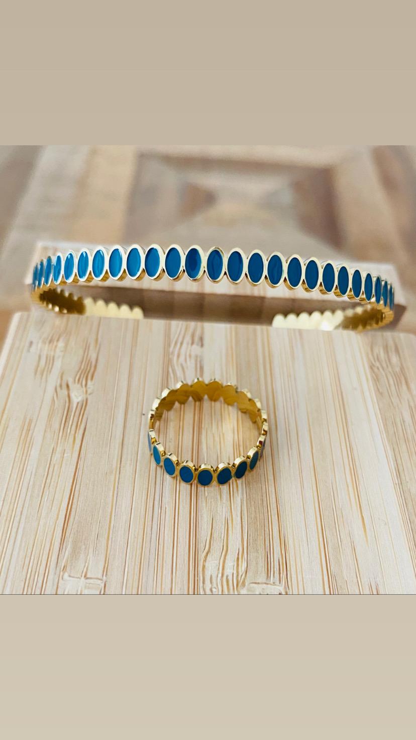 Bracelet Coloré Acier