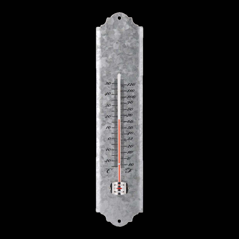 Thermomètre de jardin en zinc vieilli