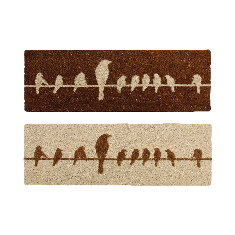 Paillasson tapis en coco « les oiseaux sur un fil… »