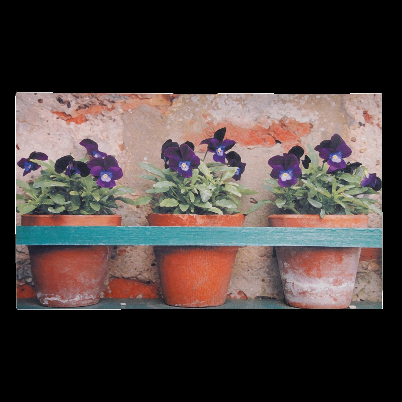Paillasson tapis imprimé « 3 petits pots de pensées »