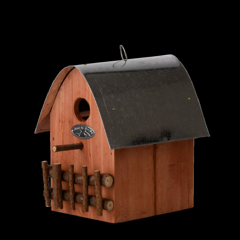 Nichoir maison brun foncé pour mésange