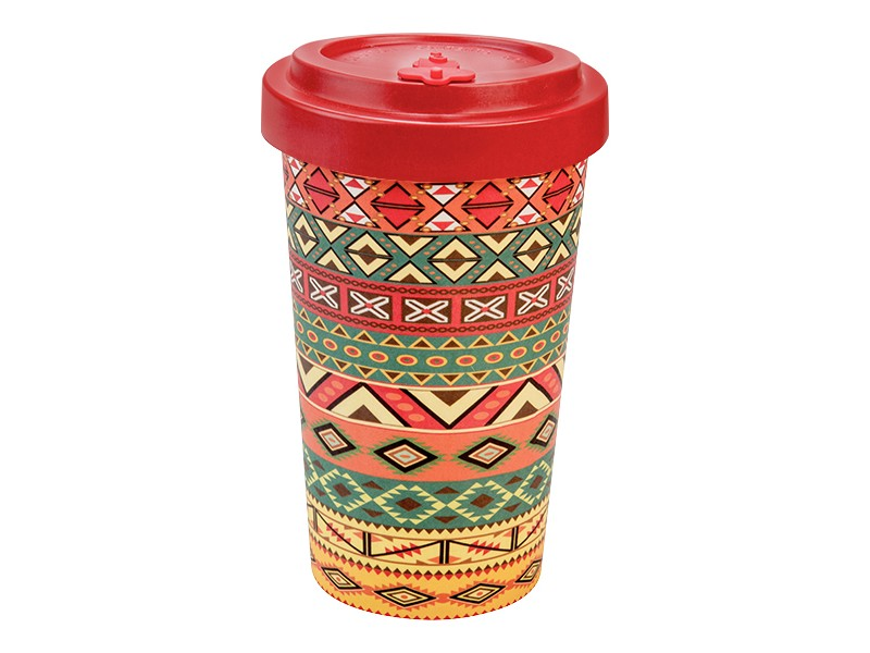 Bamboo cup / mug en bambou Aztèque