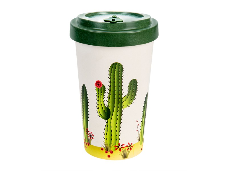 Bamboo cup / mug en bambou Cactus