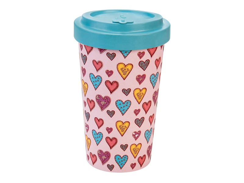 Bamboo cup / mug en bambou Cœurs en sucre