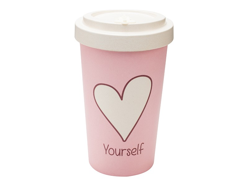 Bamboo cup / mug en bambou Love yourself