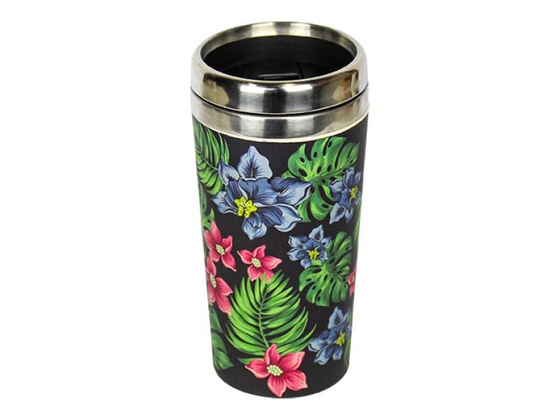 Traveler Bamboo cup / mug de voyage en bambou Tropical