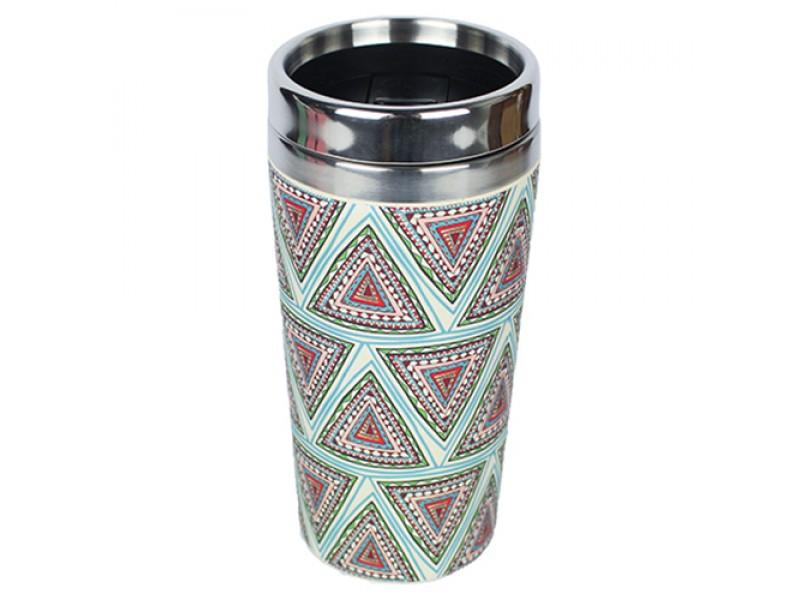 Traveler Bamboo cup / mug de voyage en bambou Aztèque bleu