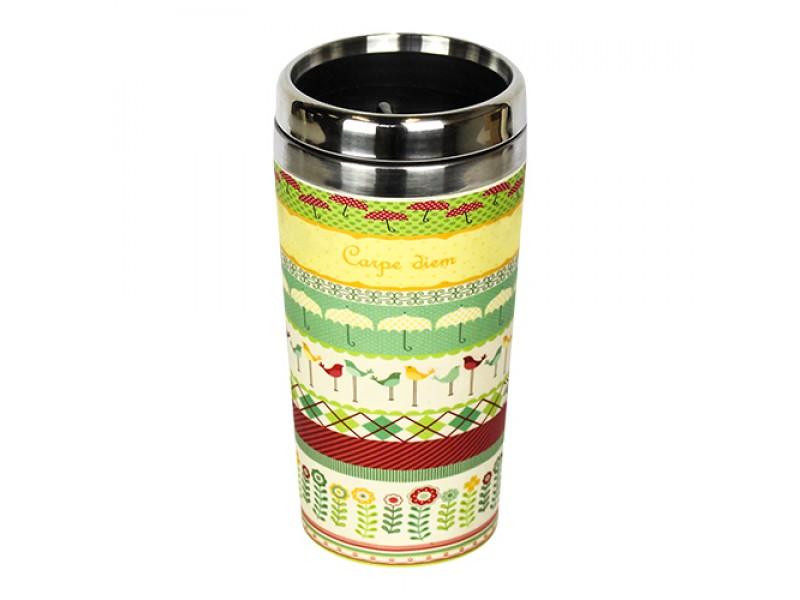 Traveler Bamboo cup / mug de voyage en bambou Carpe diem