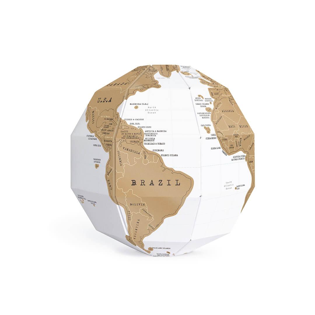 Scratch Globe : le globe à gratter Prêt à assembler DIY
