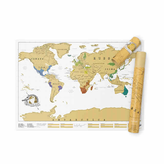 Scratch Map Travel Edition : carte du monde à gratter