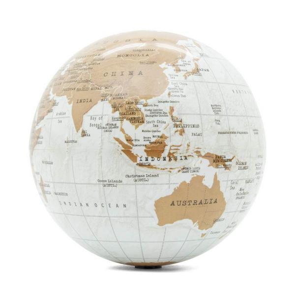 Globe terrestre rotatif sur pile