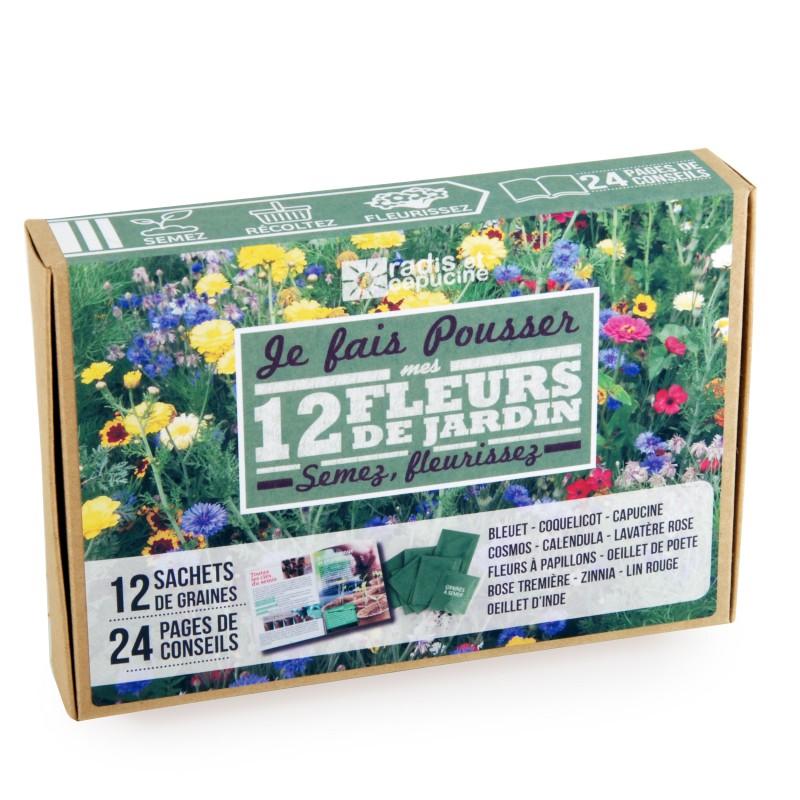 Coffret de 12 sachets de graines pour un jardin fleuri