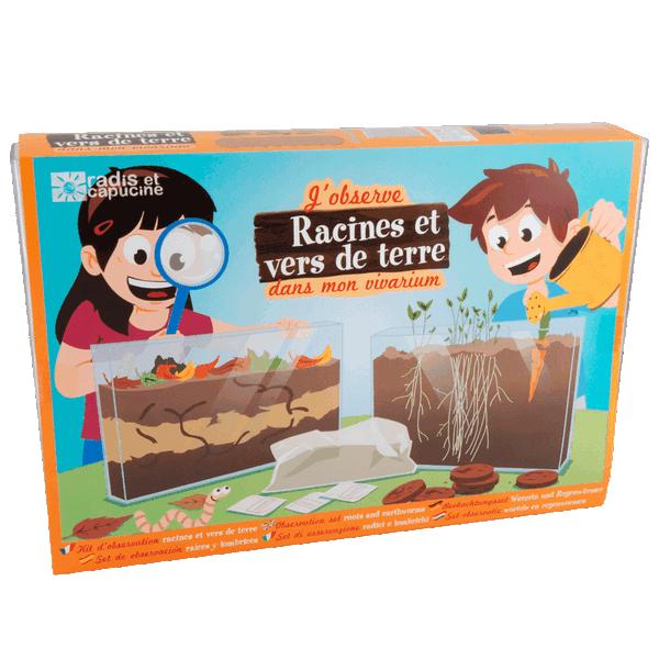 Terrarium/vivarium pour observer les racines et les vers de terre