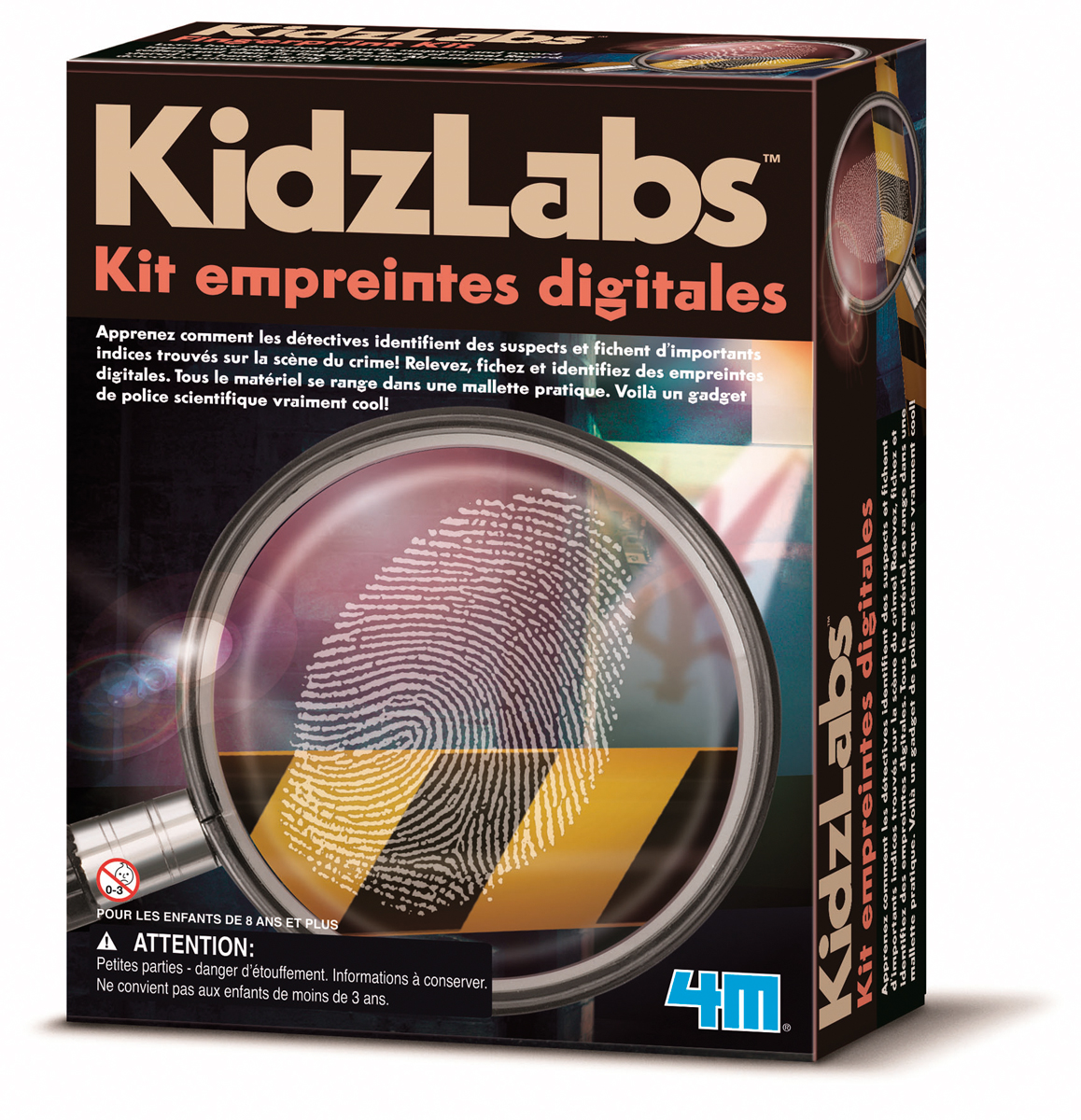 Kit empreintes digitales - jeu scientifique Kidzlab