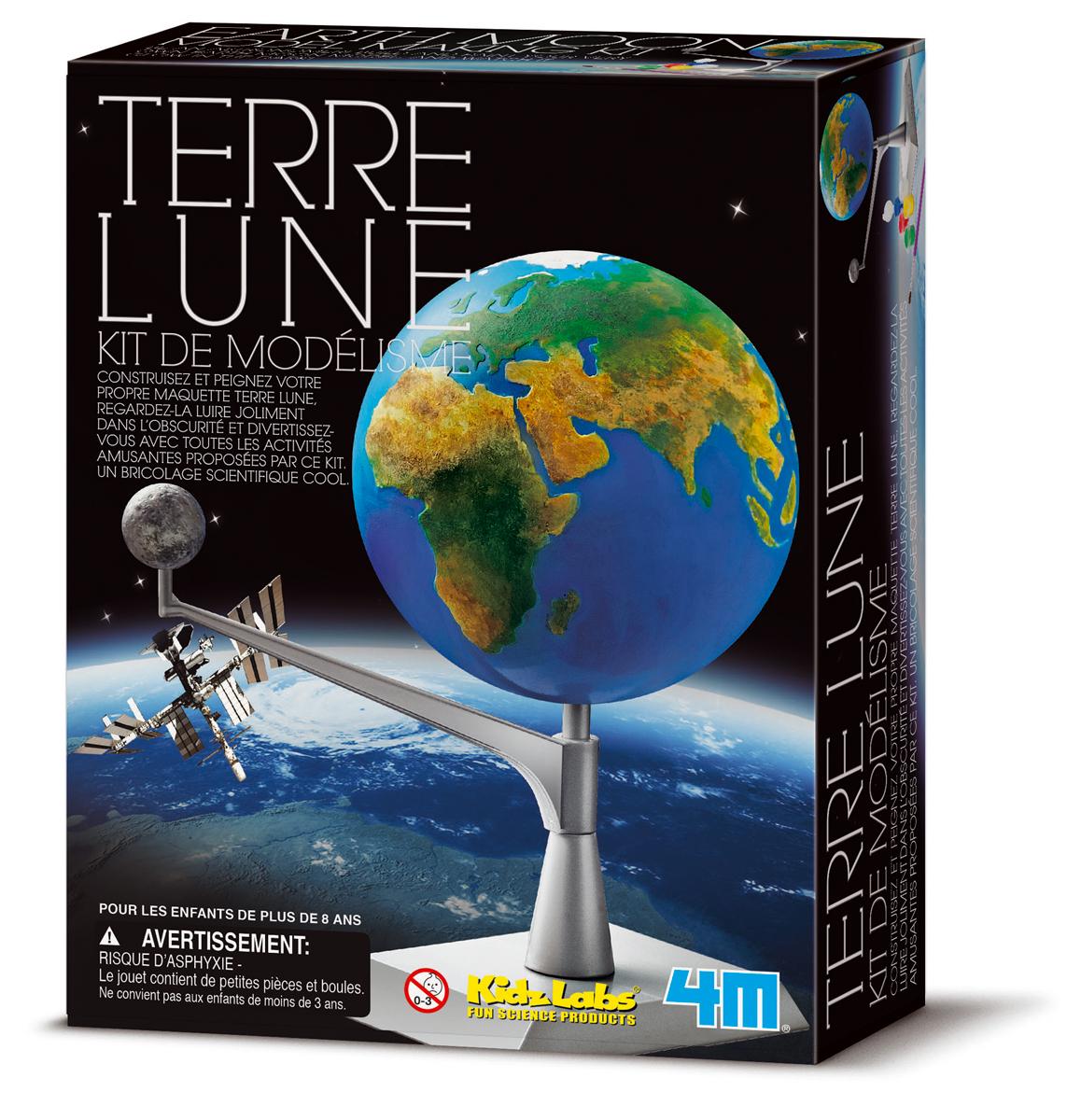 Kit de modélisme terre-lune - jeu scientifique Kidzlab