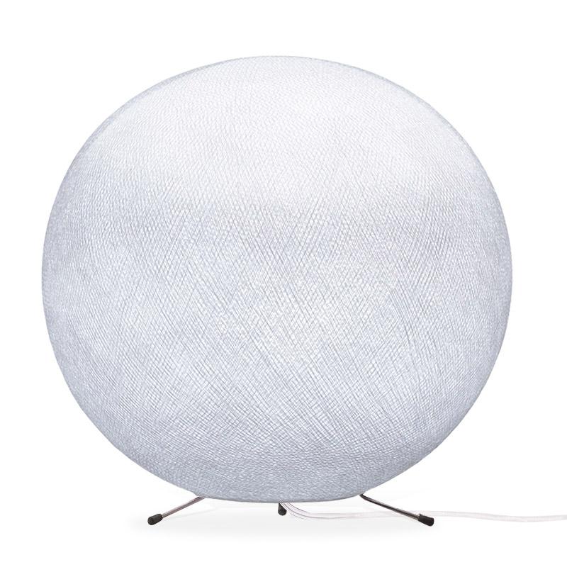 Lampe globe à poser en fibre Blanc XS