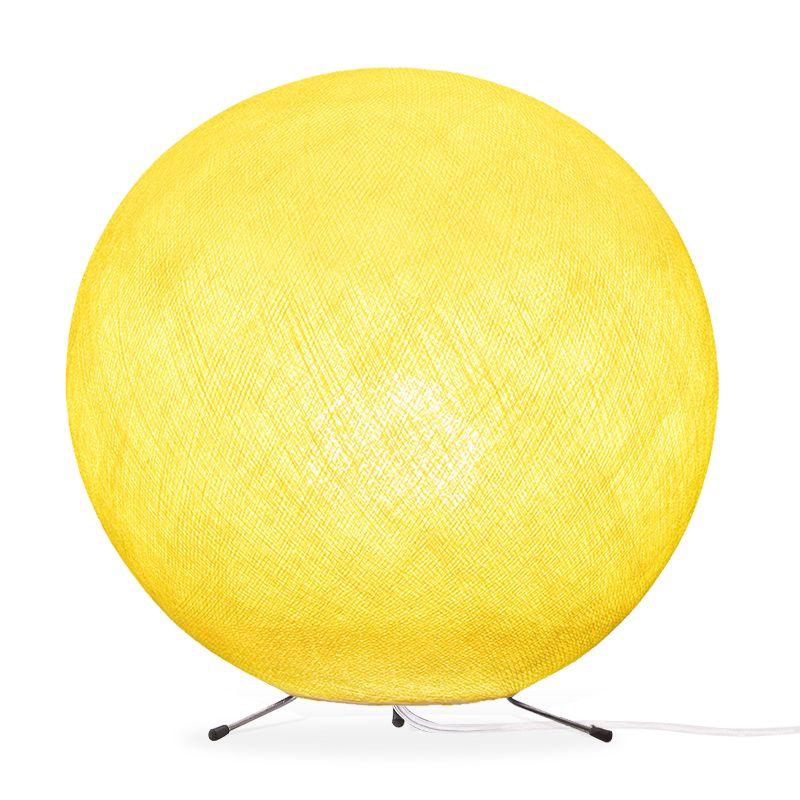 Lampe globe à poser en fibre Jaune XS