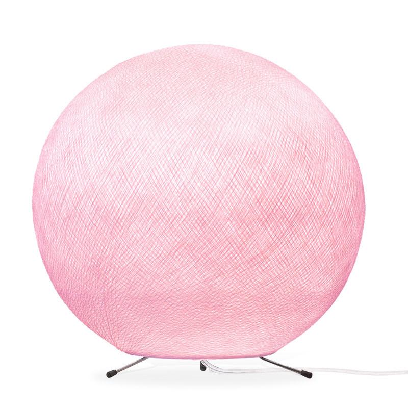 Lampe globe à poser en fibre Rose poudré XS