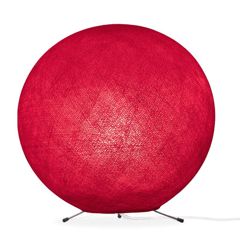Lampe globe à poser en fibre Rouge XS