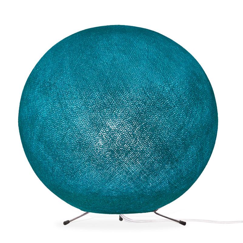 Lampe globe à poser en fibre Turquoise XS