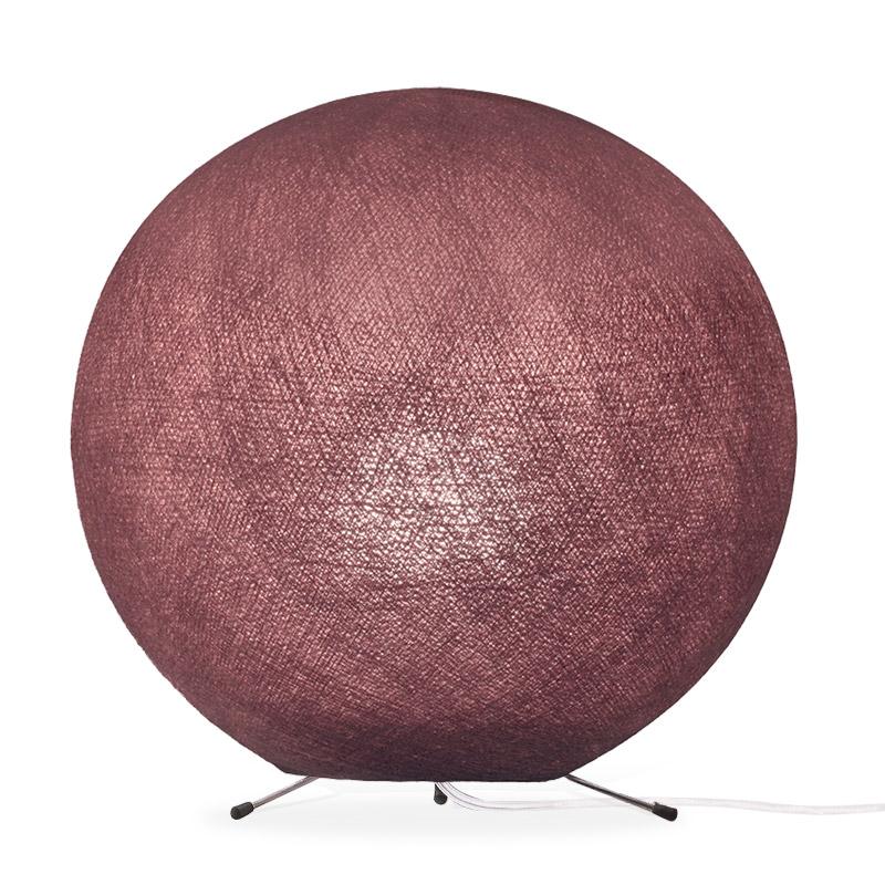 Lampe globe à poser en fibre Vieux rose XS