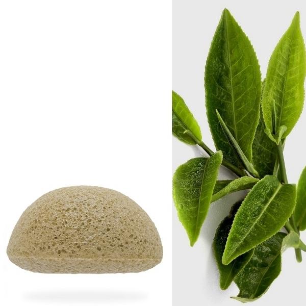 Eponge Konjac 100% naturelle au thé vert