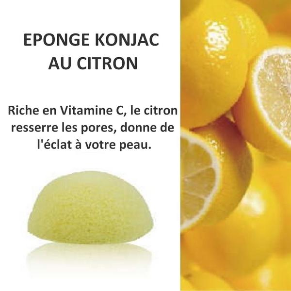 Eponge Konjac 100% naturelle au citron