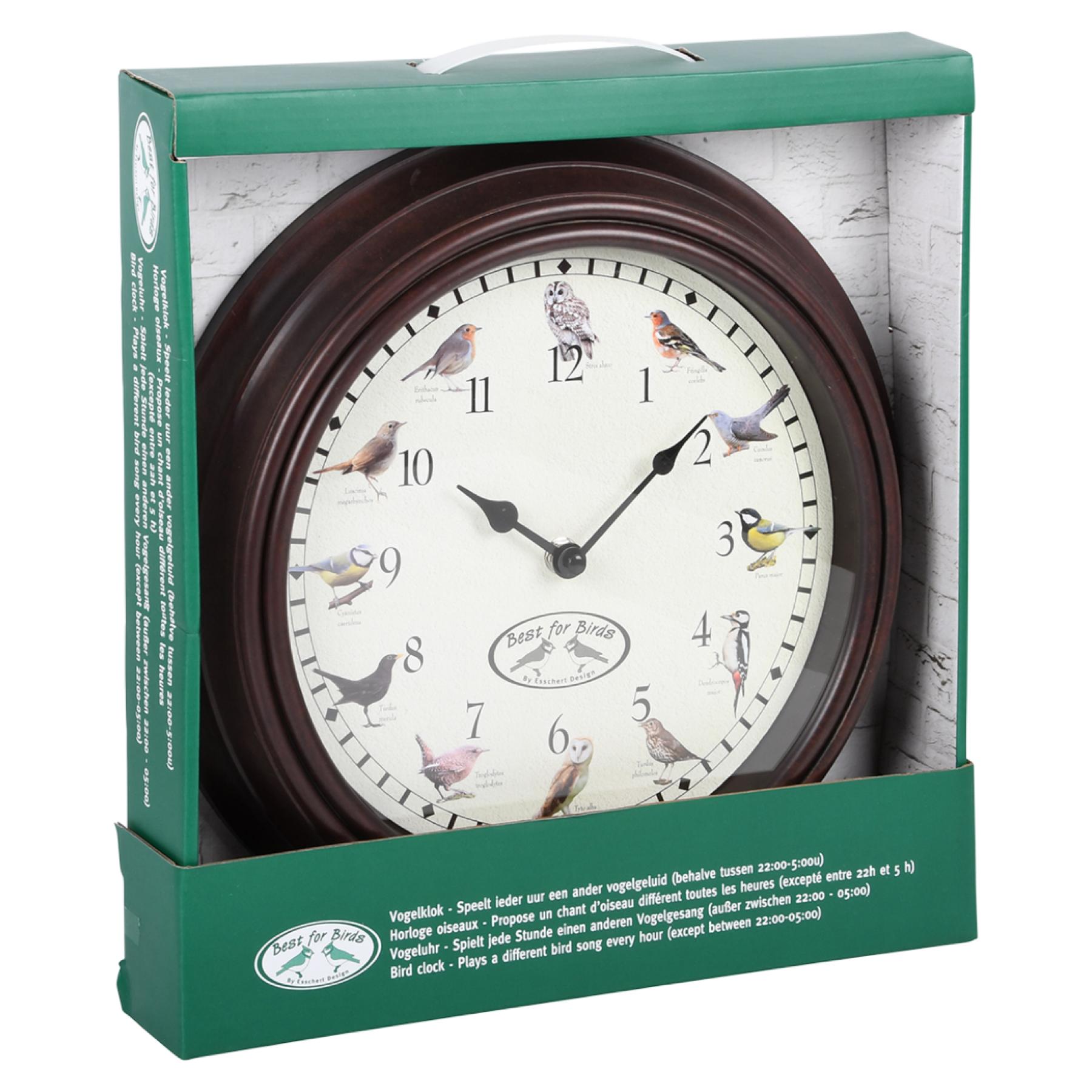 Horloge Murale Chants D Oiseaux Pendule Nature