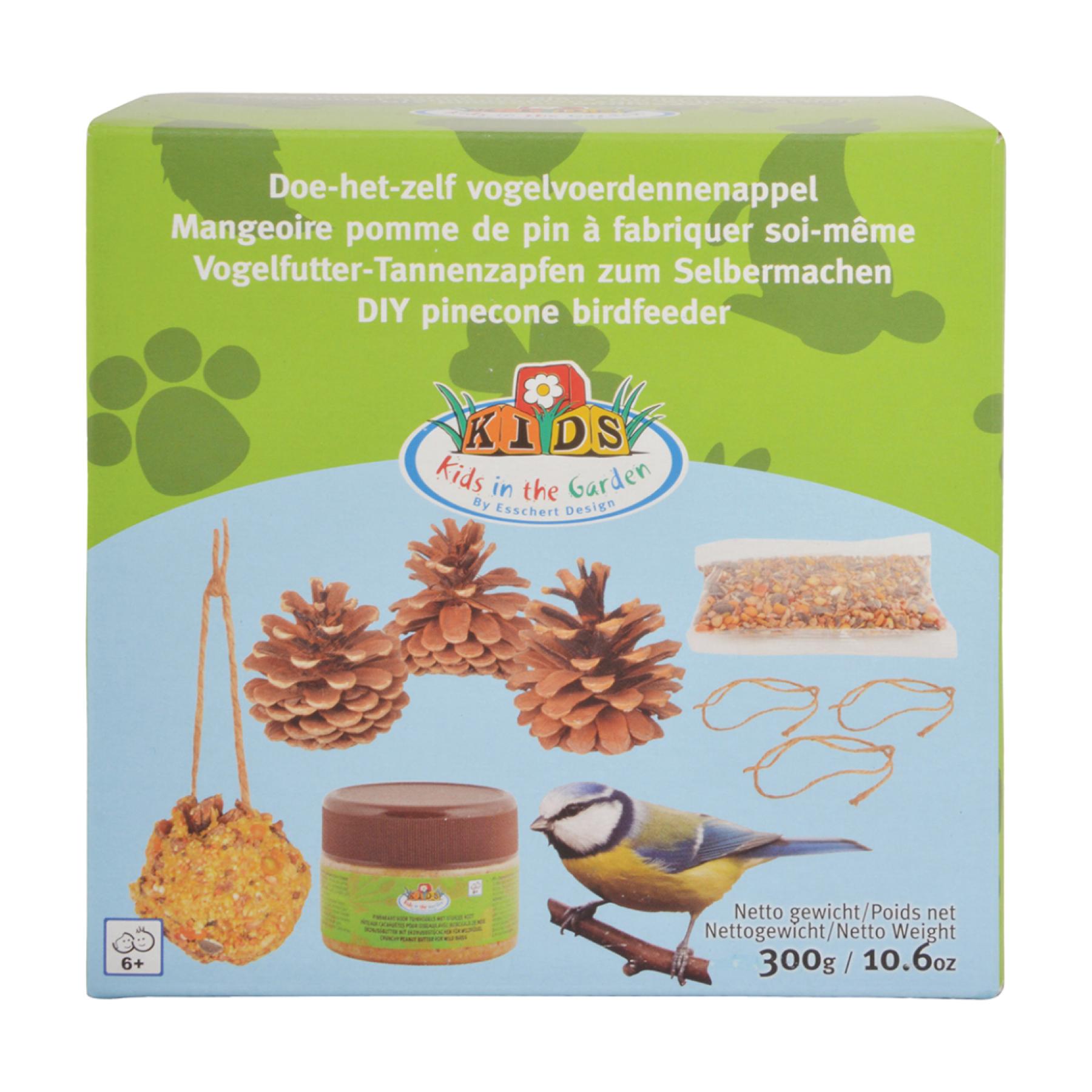 Mangeoire à oiseaux pomme de pin à fabriquer soi-même DIY