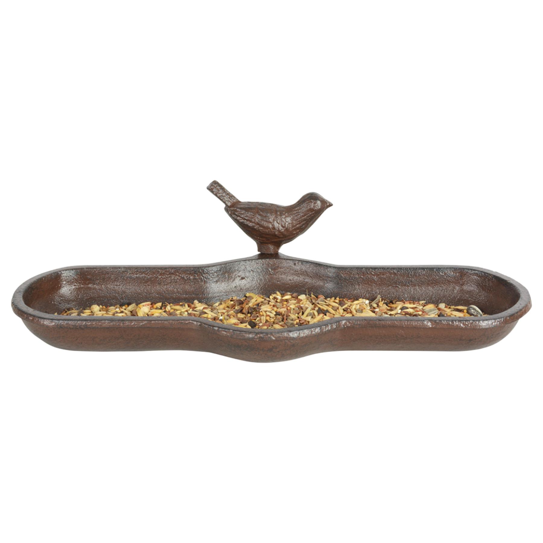 Bain d'oiseau en fonte : mangeoire, abreuvoir ou baignoire pour oiseaux