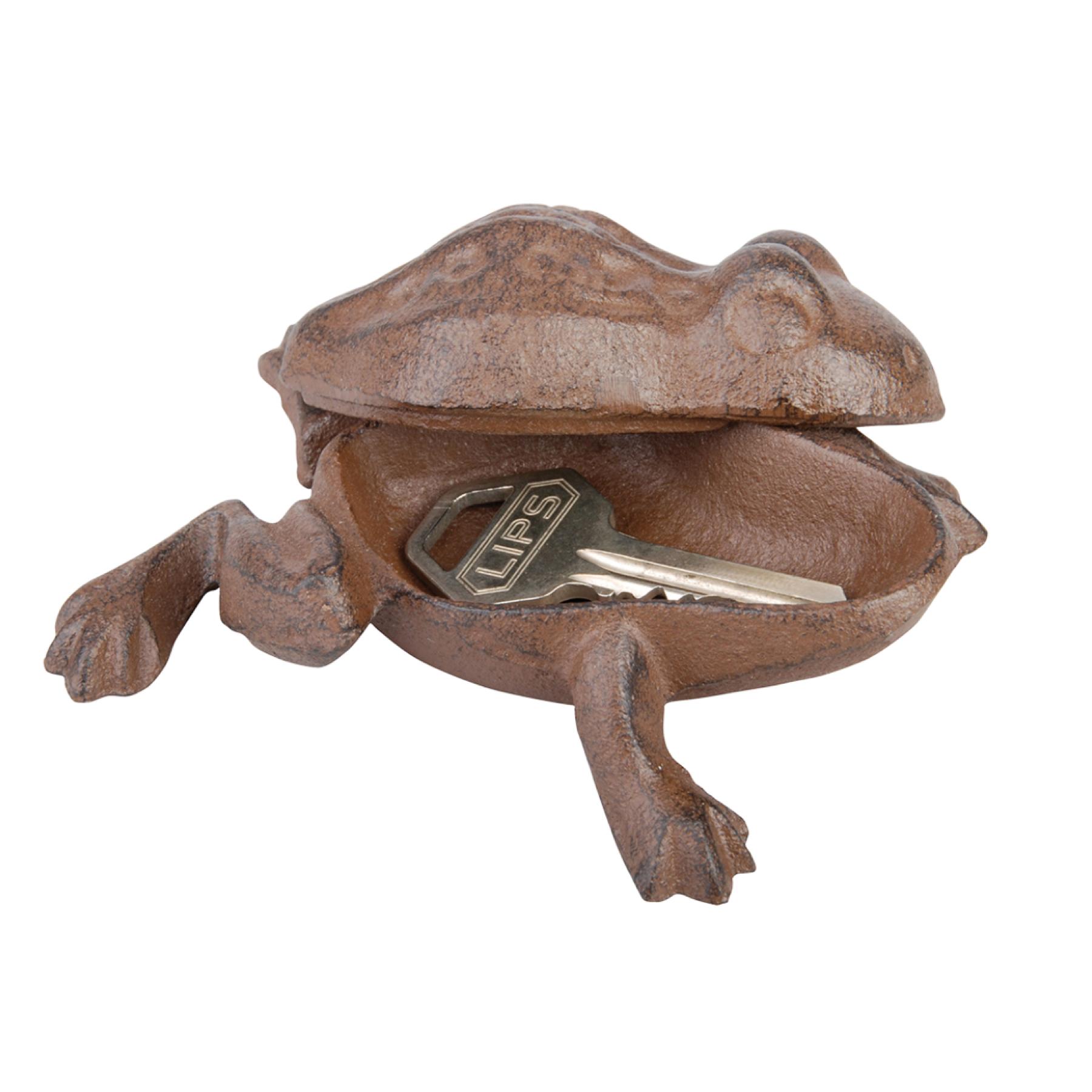 Grenouille cache clef en fonte