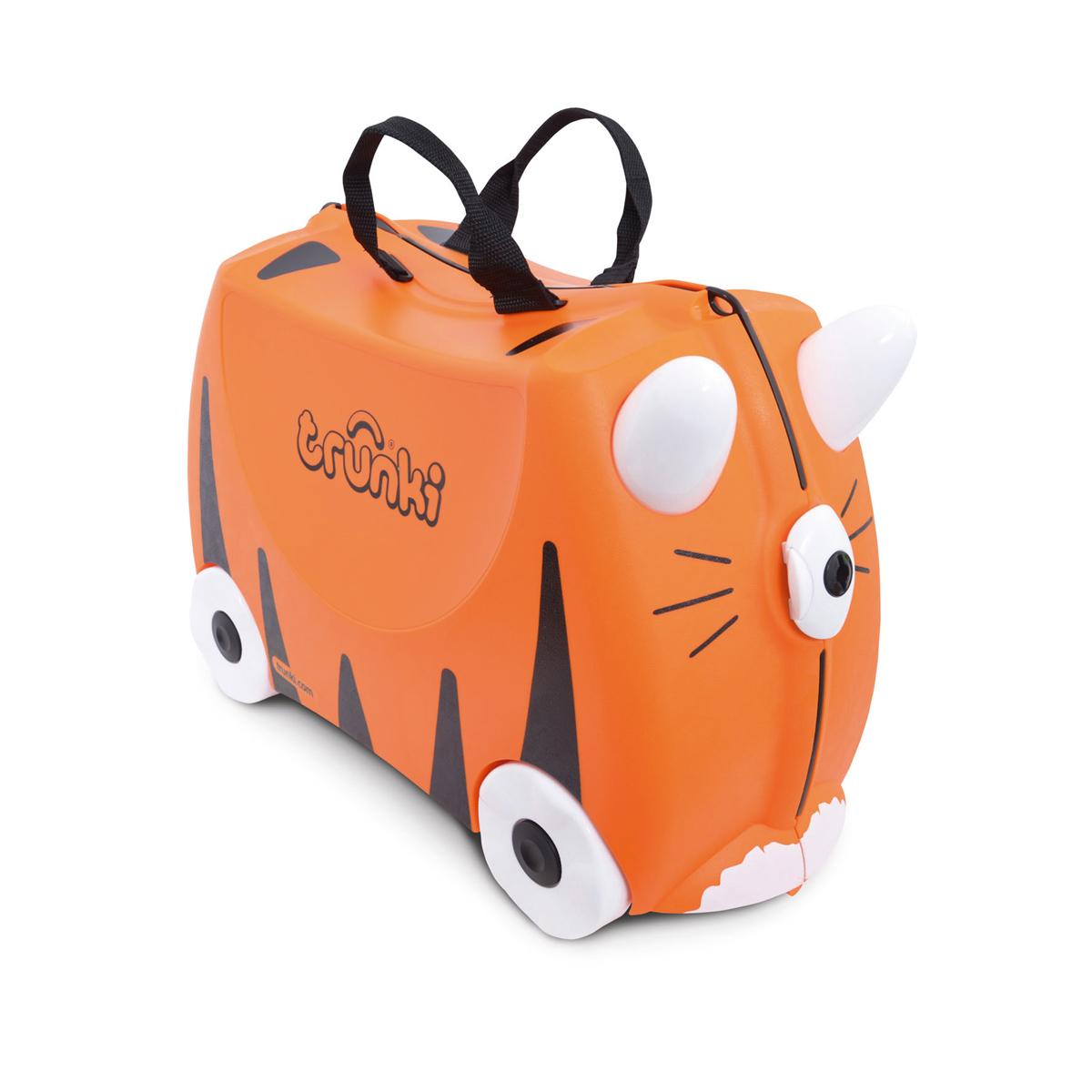 Tipu le tigre : la Valise Tout Terrain à roulette pour enfant (3 à 6 ans)