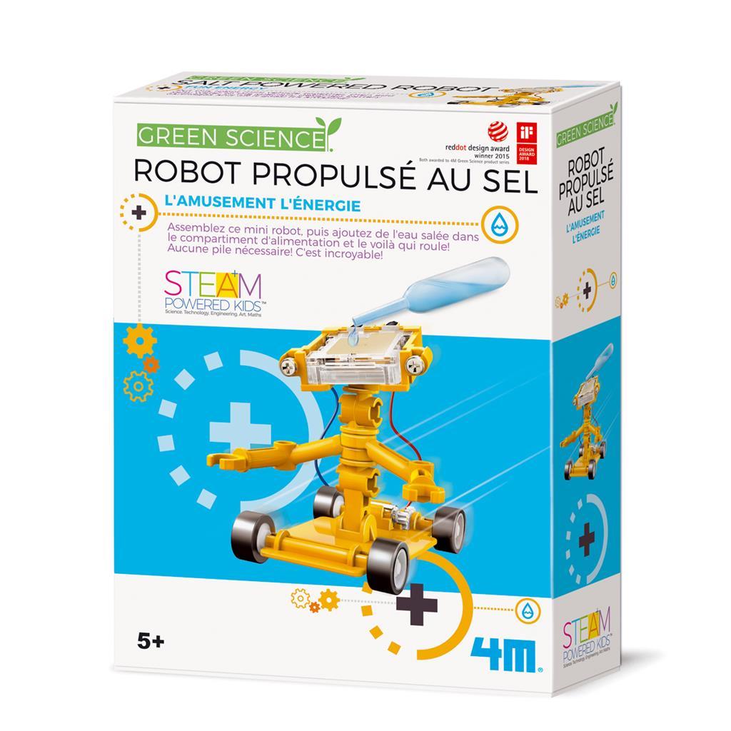 Robot propulsé au sel, jeu éducatif et scientifique