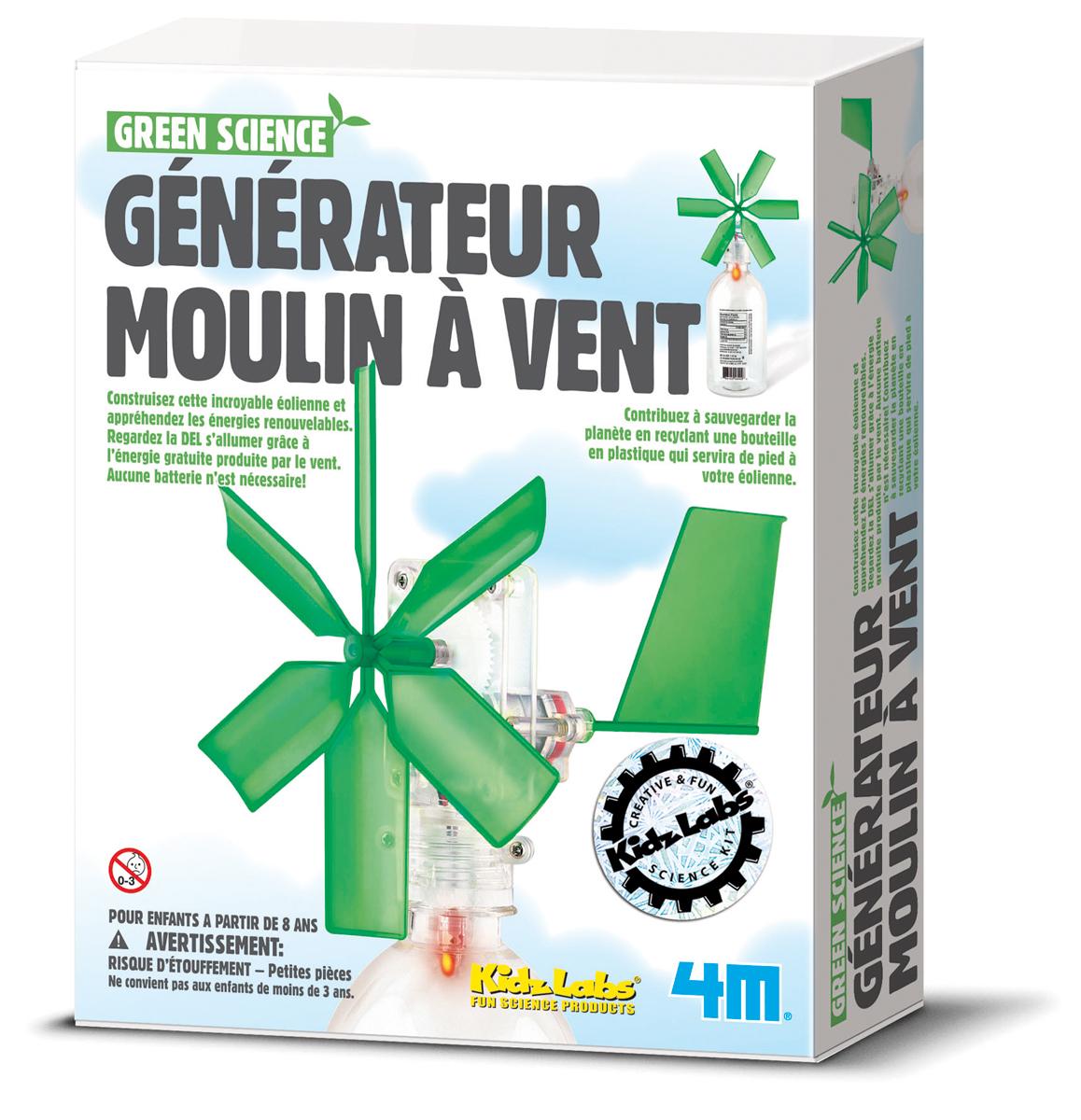Générateur moulin à vent, jeu éducatif et scientifique