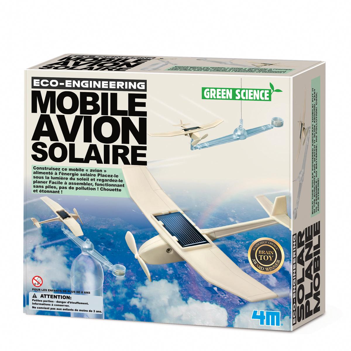 Mobile avion solaire, jeu éducatif et scientifique