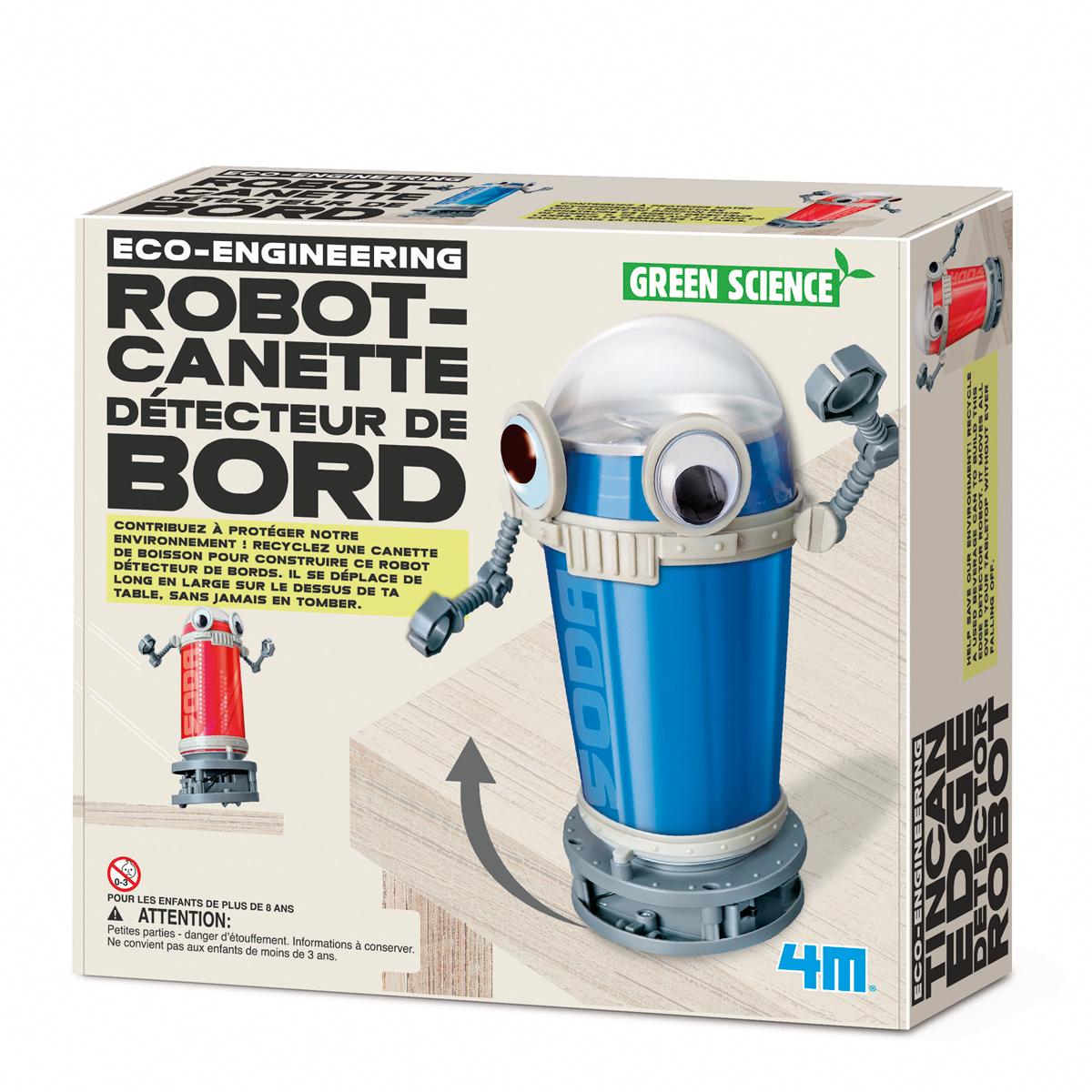 Robot canette détecteur de bord, jeu éducatif et scientifique