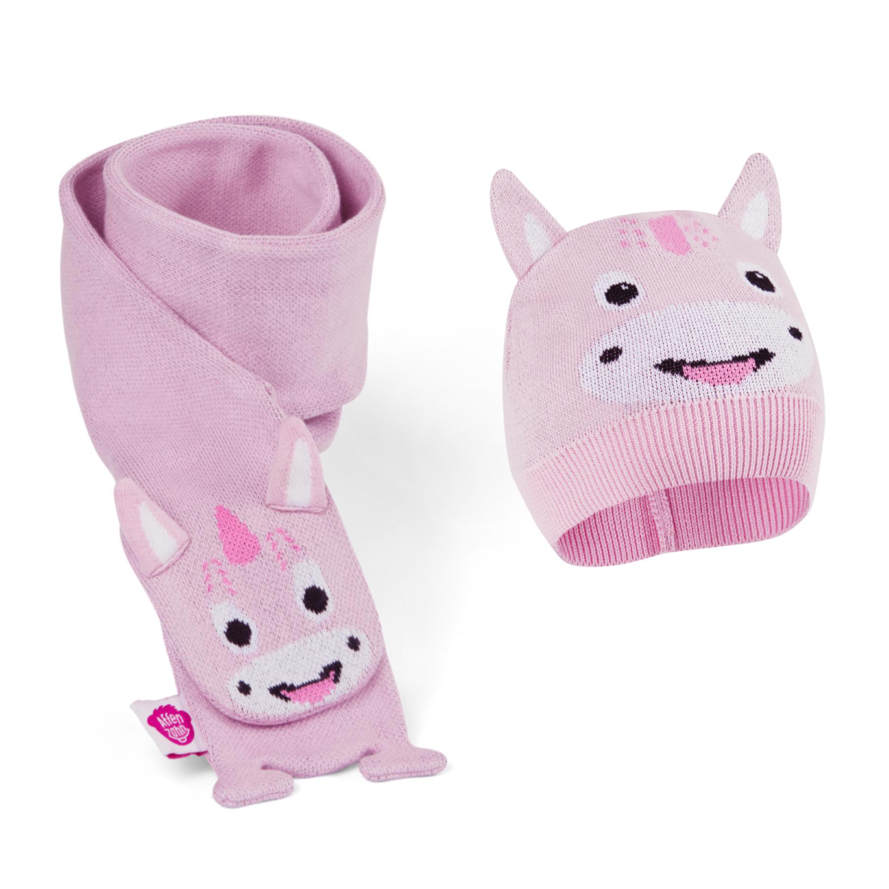 Set pour l'hiver écharpe et bonnet : Alice la licorne