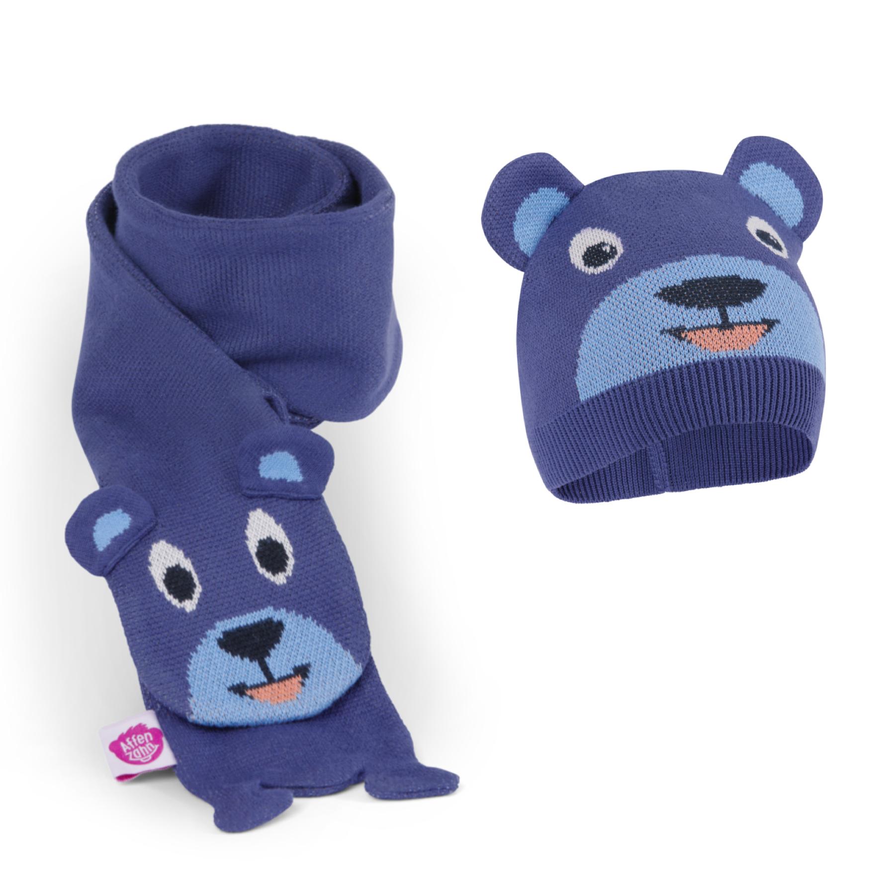 Set pour l'hiver écharpe et bonnet : Gabin l'ours