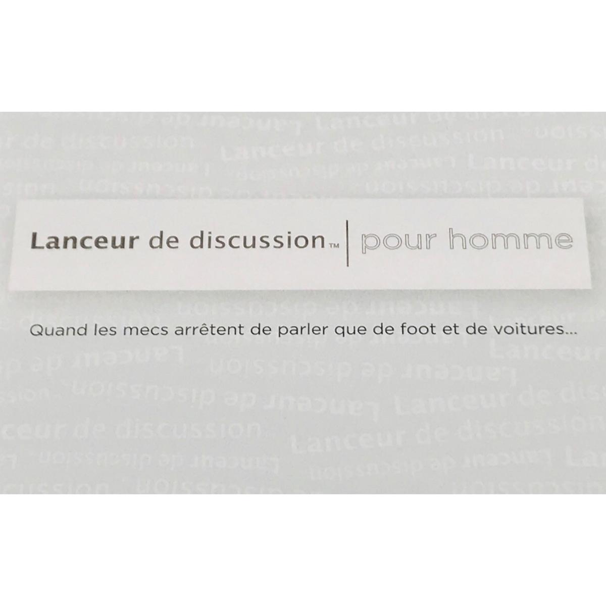 Lanceur de discussion Pour homme