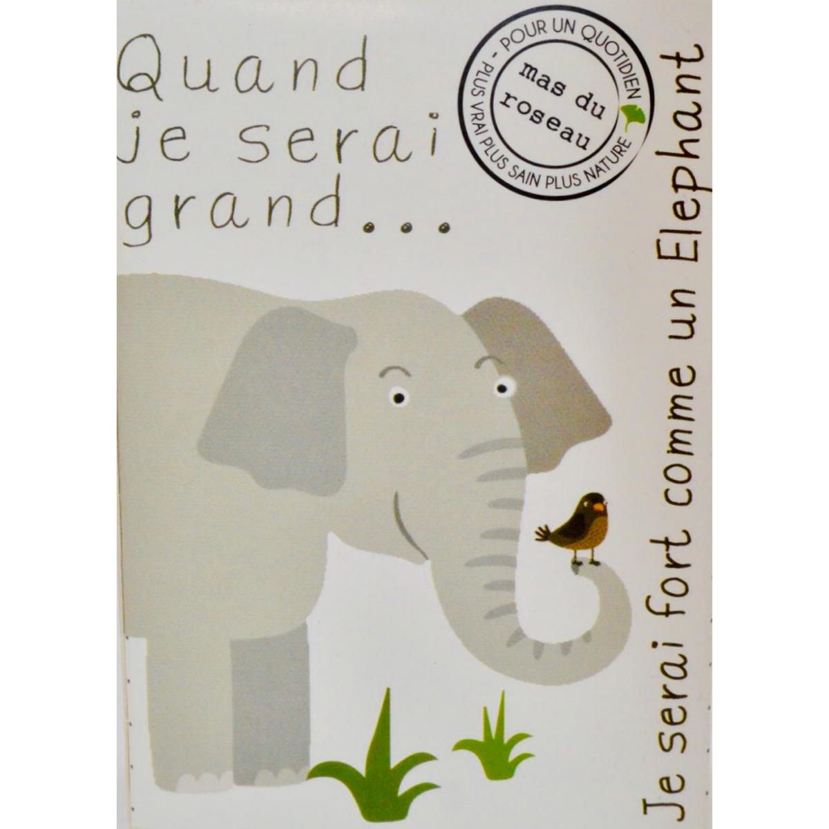 Savonnette naturelle pour enfant : fort comme un éléphant