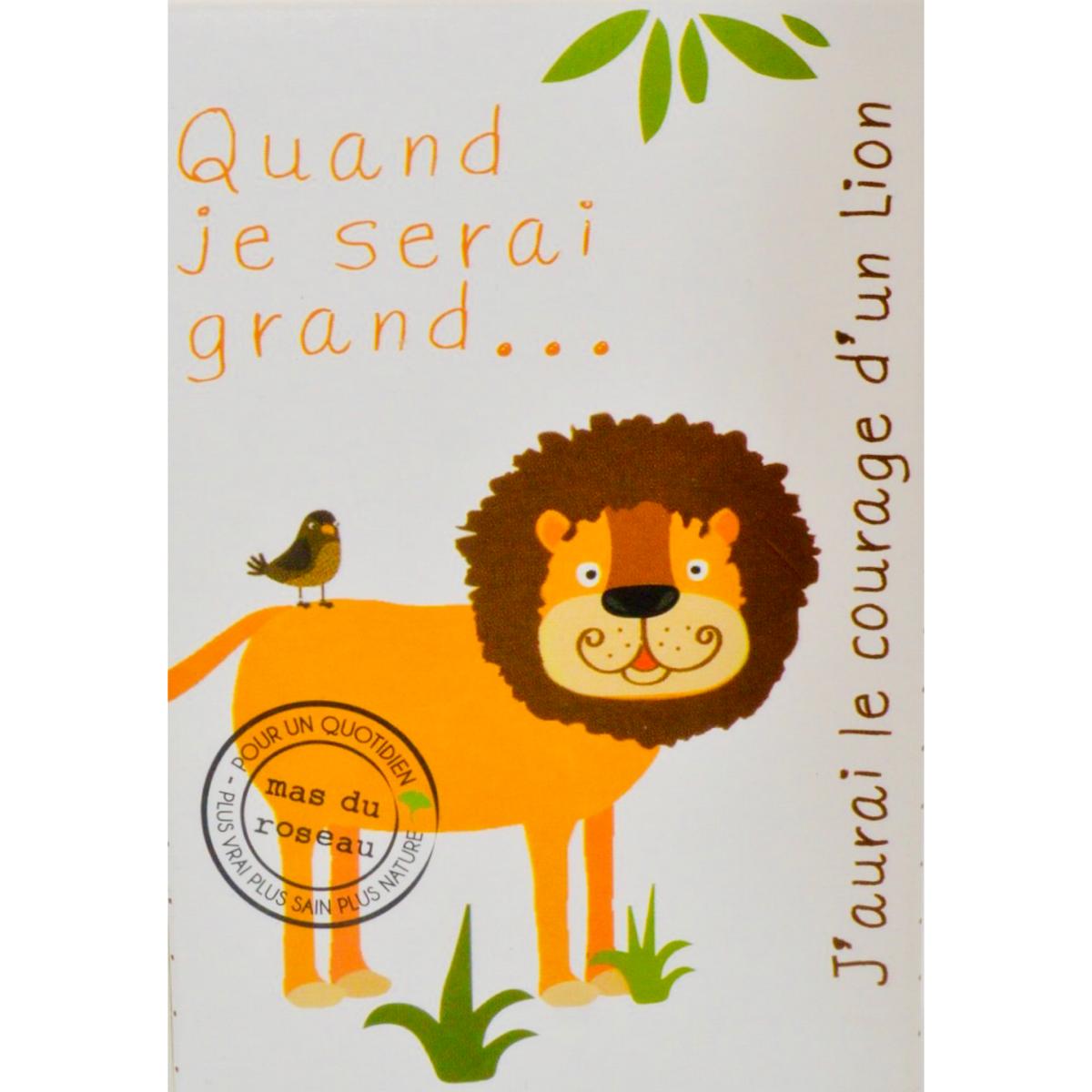Savonnette naturelle pour enfant :  Le courage d'un lion